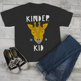 Kids Cute Kindergarten T Shirt Kinder Kid 2018 Giraffe Graphic Tee Boy's Girls School Shirts-Shirts By Sarah