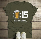 Men's Funny Beer T Shirt Beer :15 O'Clock Graphic Tee Beer Drinker Shirts Mug Gift Idea-Shirts By Sarah