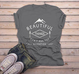 Men's Nature T Shirt Beautiful Things Do Not Ask For Attention Shirts Inspirational Graphic Tee-Shirts By Sarah