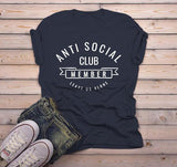 Men's Funny T Shirt Anti Social Club Tshirt Leave Us Alone Gift Idea Tee-Shirts By Sarah