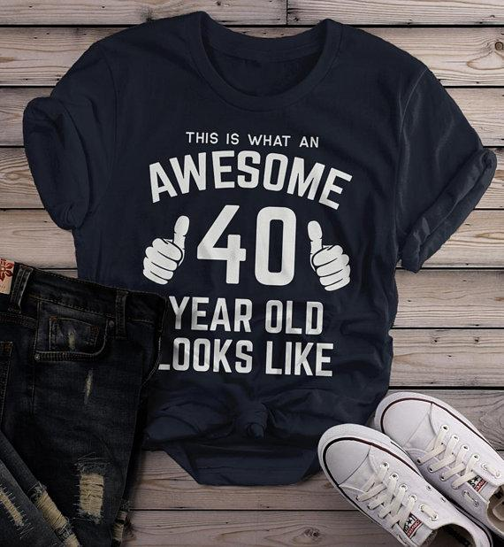 Women's Funny 40th Birthday T Shirt This Is What Awesome Forty Year Old Looks Like TShirt-Shirts By Sarah