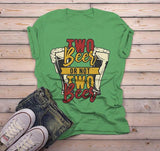 Men's Funny Beer T Shirt Two Beer Or Not Graphic Tee Drinking Shirts Craft Beer TShirt-Shirts By Sarah