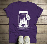 Men's Camping T Shirt Mason Jar Graphic Tee Collect Moments Hipster Shirts Tent TShirt Camper-Shirts By Sarah