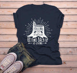 Men's Inspirational T Shirt Falling Down Is Life Getting Up Living Logger Graphic Tee-Shirts By Sarah