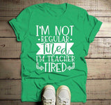 Men's Funny Teacher T Shirt Teaching Tired Tee Teacher Gift Idea Teacher Life-Shirts By Sarah