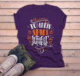 Men's Pumpkin Spice T Shirt Pumpkin Spice Junkie Tee Fall Shirts Seasonal TShirt Funny-Shirts By Sarah