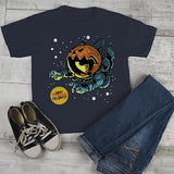 Kids Halloween T Shirt Astronaut Pumpkin Graphic Tee Happy Halloween Shirts-Shirts By Sarah
