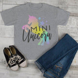 Girl's Matching Mother Daughter T Shirt Unicorn Shirts Graphic Cute Mommy Me Tee-Shirts By Sarah