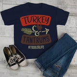 Funny Toddler Thanksgiving T Shirt Turkey & Tantrums Tee #Toddlerlife Shirts-Shirts By Sarah