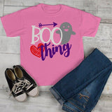 Girl's Cute Halloween T Shirt Boo Thing Ghost Tee Toddler Shirts Adorable Halloween Tee-Shirts By Sarah