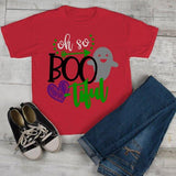 Girl's Cute Halloween T Shirt Oh So Boo Tiful Ghost Toddler Shirts Adorable Halloween Tee-Shirts By Sarah