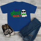 Boy's Funny Halloween T Shirt Ghoul Magnet Ghost Toddler Shirts Adorable Halloween Tee-Shirts By Sarah
