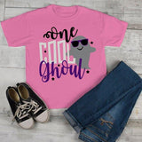 Girl's Cute Halloween T Shirt One Cool Ghoul Ghost Toddler Shirts Adorable Halloween Tee-Shirts By Sarah