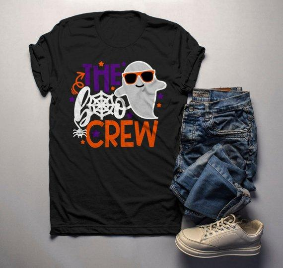 a01c7e01 Men's Funny Halloween T Shirt Boo Crew Graphic Tee Matching Halloween  Shirts Ghost-Shirts By