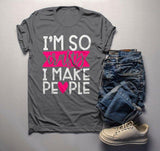 Men's Funny Craft Mom T Shirt Crafty I Make People Shirts Gift Idea Crafts Tee-Shirts By Sarah