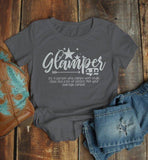 Women's Funny Camping T Shirt Glamper Shirts Definition Class Sass Pizazz Graphic Tee-Shirts By Sarah
