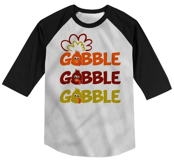 be26c4fc Kids Funny Thanksgiving T Shirt Gobble Gobble Turkey Shirts Hipster Tu –  Shirts By Sarah