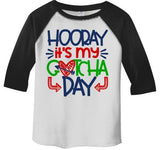 Boy's Gotcha Day T Shirt Adoption Shirts Adopted Tee Cute Adopt Tee Coming Home Day Toddler 3/4 Sleeve Raglan-Shirts By Sarah