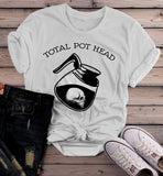 Women's Funny Coffee T Shirt Total Pot Head Shirts Hilarious Coffee Lover Gift Idea Hipster Shirts-Shirts By Sarah