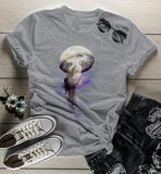 Women's Jellyfish T Shirt Hipster Shirts Universe Graphic Tee Ocean Space Hand Drawn Illustration Tee-Shirts By Sarah