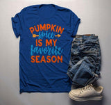 Men's Pumpkin Spice T Shirt Favorite Season Tee Fall Shirts Festive Tshirts Saying Tshirt-Shirts By Sarah