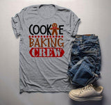 Men's Christmas T Shirt Cookie Baking Crew Matching Xmas Shirts Cute Graphic Tee-Shirts By Sarah