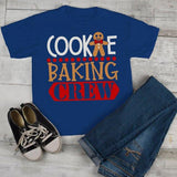 Kids Christmas T Shirt Cookie Baking Crew Matching Xmas Shirts Cute Graphic Tee Toddler Boy's Girl's-Shirts By Sarah