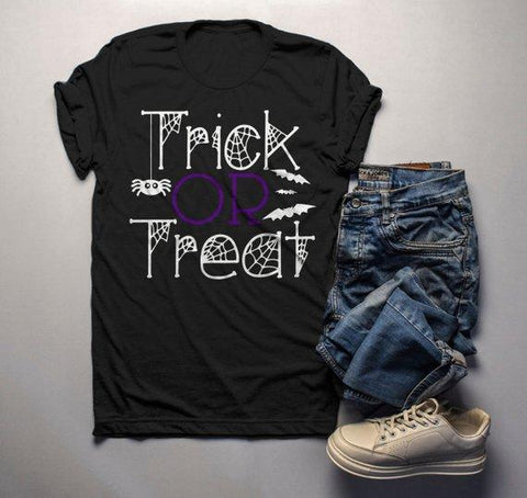 Men's Funny Halloween T Shirt Trick Or Treat Graphic Tee Cool Matching Shirts-Shirts By Sarah