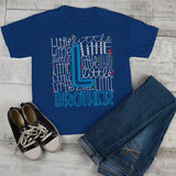Boy's Little Brother T Shirt Typography Tee Matching Sibling Shirts Cute Tees-Shirts By Sarah