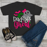 Girl's Cute Halloween T Shirt Daddy's Ghoul Ghost Toddler Shirts Adorable Halloween Tee-Shirts By Sarah
