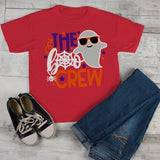Kids Funny Halloween T Shirt Boo Crew Graphic Tee Matching Halloween Shirts Ghost-Shirts By Sarah