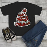 Kids Wish You Merry Christmas Winter Hat T-Shirt Xmas Shirts Hipster Graphic Tee Toddler Boy's Girl's-Shirts By Sarah