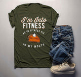 Men's Funny Pie T Shirt Thanksgiving Shirts Into Fitness Pie In Mouth Workout Tee Turkey Day TShirt-Shirts By Sarah