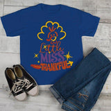 Girl's Funny Toddler Thanksgiving Shirt Little Miss Thankful Graphic Tee-Shirts By Sarah