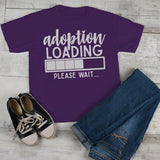 Kids Adoption T Shirt Cute Adoption Loading Tee Gift Idea Brother Sister Toddler Boy's Girl's-Shirts By Sarah