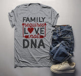 Men's Family T Shirt Requires Love Not DNA Blended Family Shirts Adoption Tee-Shirts By Sarah