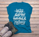 Men's Foster Mom T Shirt Adoptive Mom Shirts Biological Mother Tee Adoption Tshirt-Shirts By Sarah