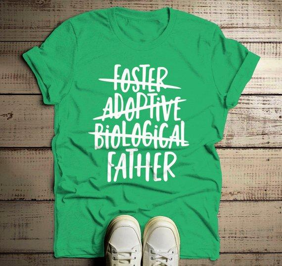 Men's Foster Dad T Shirt Adoptive Dad Shirts Biological Father Tee Adoption Tshirt-Shirts By Sarah