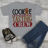 Kids Christmas T Shirt Cookie Tasting Crew Matching Xmas Shirts Cute Graphic Tee Toddler Boy's Girl's-Shirts By Sarah