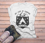 Women's Camping T Shirt Love Camping Shirts In Tents Shirt Camper Tee Love Of Camping Tshirt Tent Shirt-Shirts By Sarah