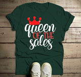 Men's Funny Black Friday T Shirt Queen Of Sales Shirts Shopping Tee-Shirts By Sarah