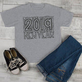 Kids New Years Shirt 2019 Typography Shirts New Year's Tee Happy New Year 2019 T Shirt Toddler Boy's Girl's-Shirts By Sarah