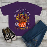 Kids Gobble T Shirt Wobble Shirts Gobble Till You Wobble Thanksgiving Shirts Funny Turkey Tee Boy's Girl's Toddler-Shirts By Sarah