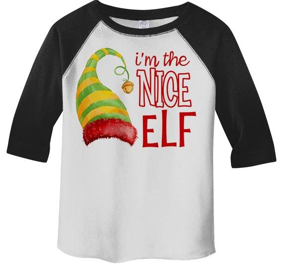 2f497ef48 Kids Funny Elf T Shirt Nice Matching Christmas Shirts Graphic Tee  Watercolor Elves Toddler Tee Girl's