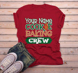Men's Personalized Christmas T Shirt Cookie Baking Crew Matching Xmas Outfit Custom Graphic Tee-Shirts By Sarah