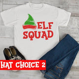 Kids Elf Shirt Elf Outfit Christmas Shirt Elf Hat Tee Elf Squad Shirt Matching Christmas Shirts Toddler Boy's Girl's-Shirts By Sarah