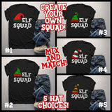 Men's Elf Shirt Elf Outfit Christmas Shirt Elf Hat Tee Elf Squad Shirt Matching Christmas Shirts-Shirts By Sarah