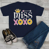 Girl's Valentine's Day T Shirt Little Miss XOXO Shirts Cute Adorable Valentine Tshirt Toddler Tee-Shirts By Sarah