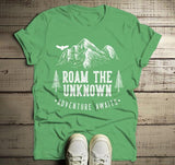 Men's Roam Unknown T Shirt Hipster Camping Shirts Adventure Awaits Mountains Graphic Tee Hipster-Shirts By Sarah
