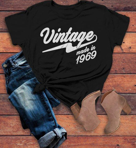 Womens Vintage T Shirt 1969 Birthday Made In Shirt 50th Birthday
